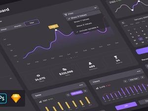 Dark Dashboard Admin UI Kit 1