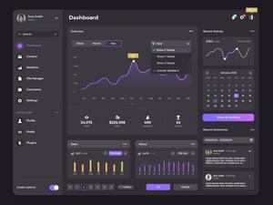 Dark Dashboard Admin UI Kit 2