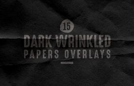 Dark Wrinkled Papers Overlays
