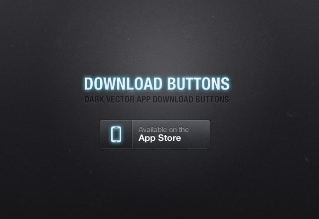 Dark App Download Buttons