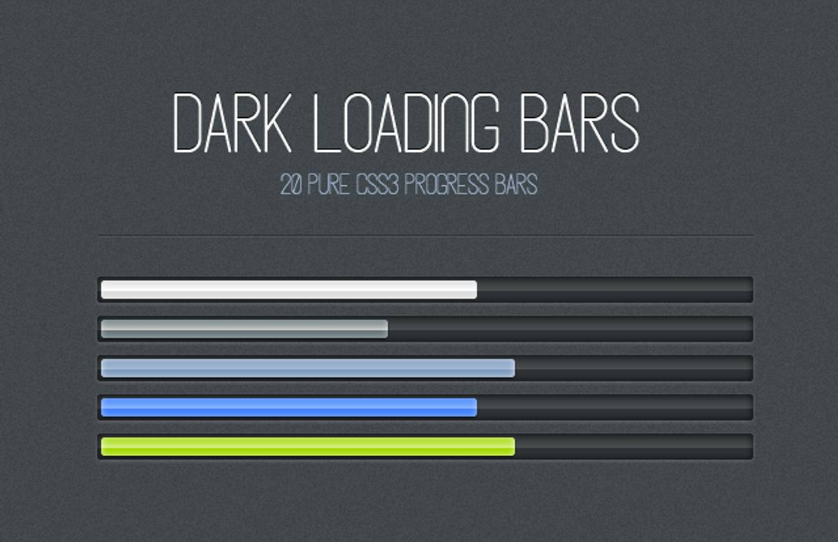 Dark  Css3  Loading  Bars  Preview1