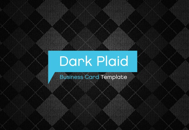 Dark Plaid Business Card Template