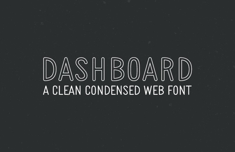 Dashboard - Clean Condensed Web Font