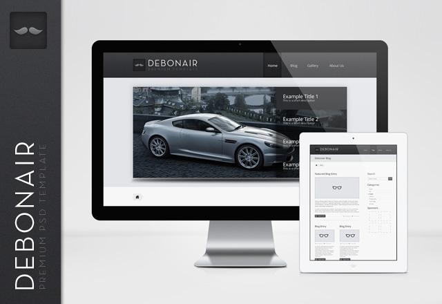 Debonair Premium PSD Template