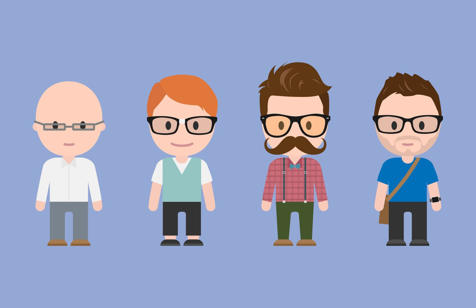 Designer Stereotype Vector Characters