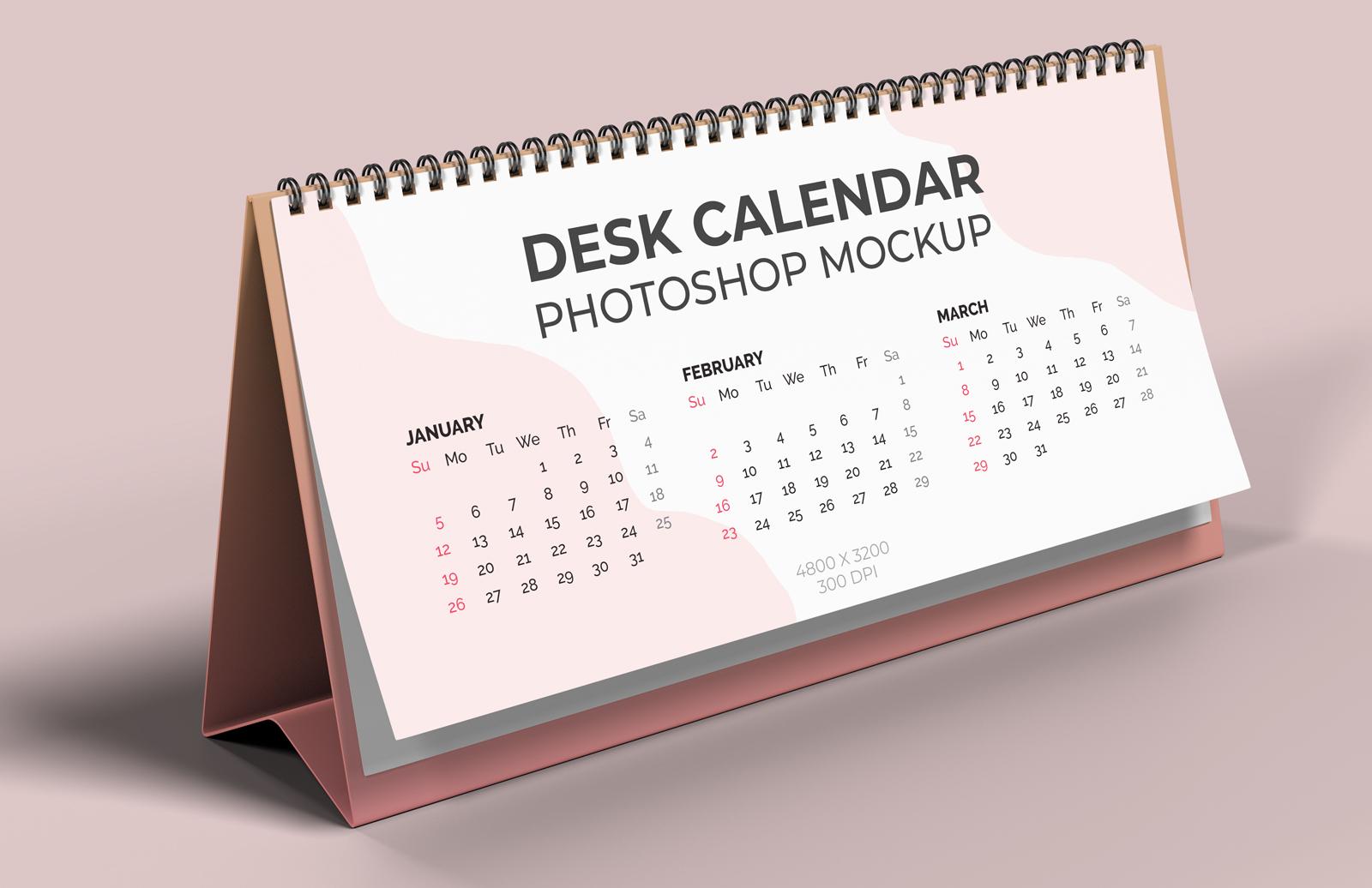 Desk Calendar Mockup Preview 1
