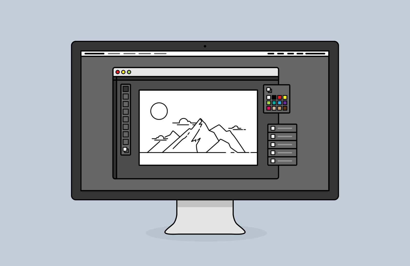 Desktop  Screen  Vector  Icons  Preview 1