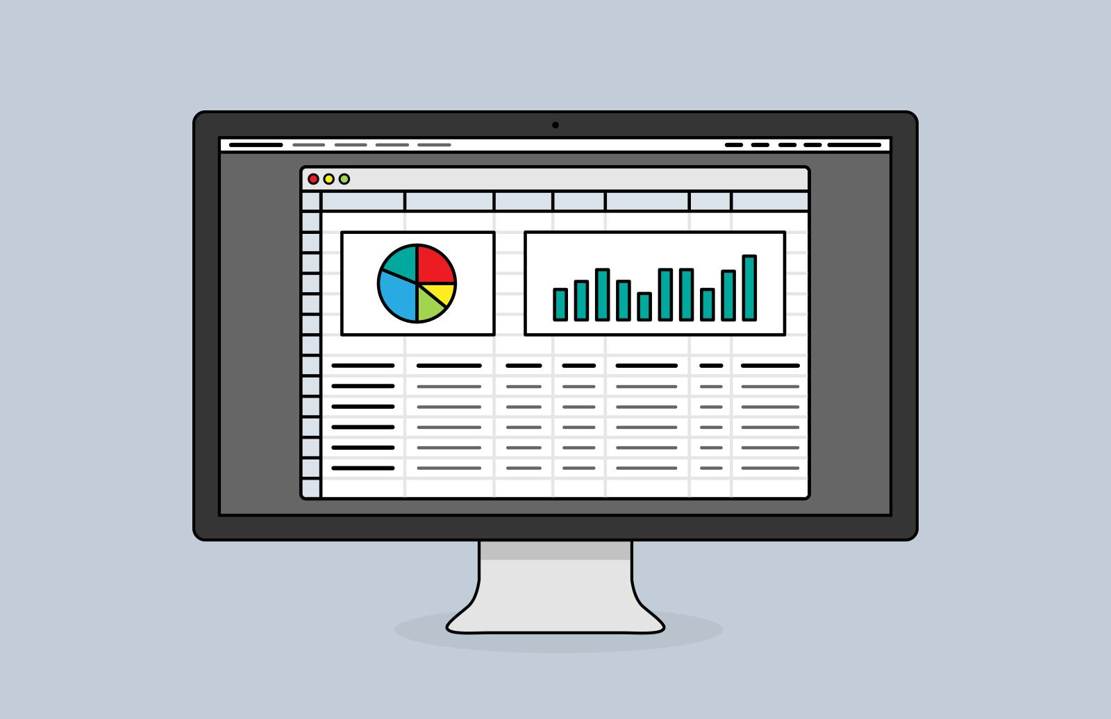 Desktop Screen Vector Icons 2