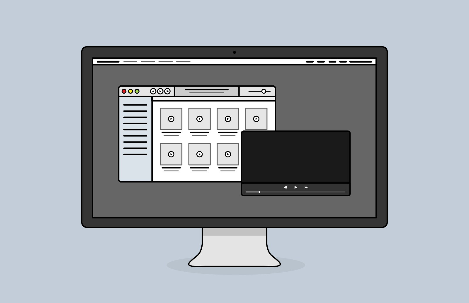 Large Desktop  Screen  Vector  Icons  Preview 3
