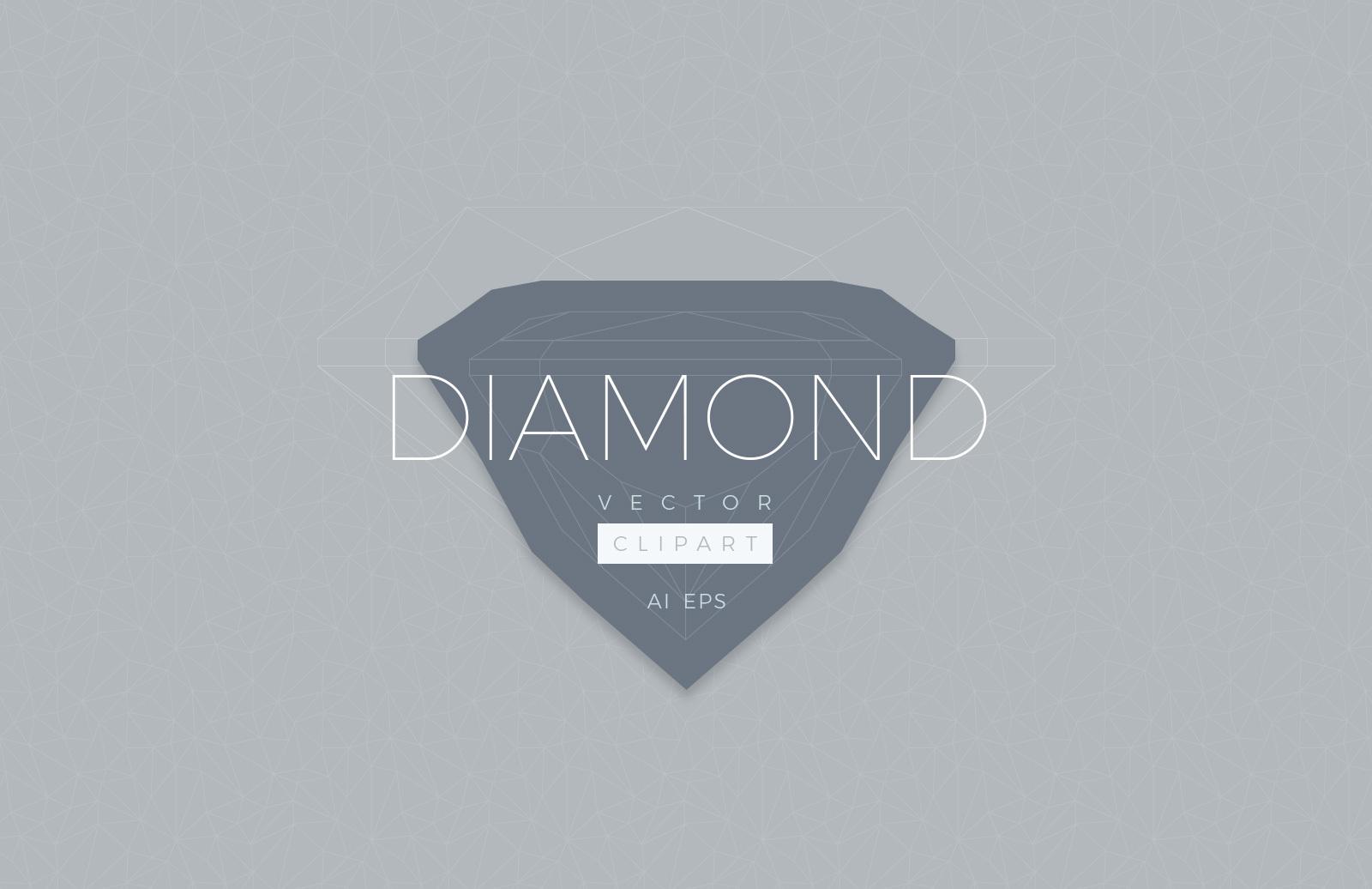 Diamond Vector Clipart Preview 1