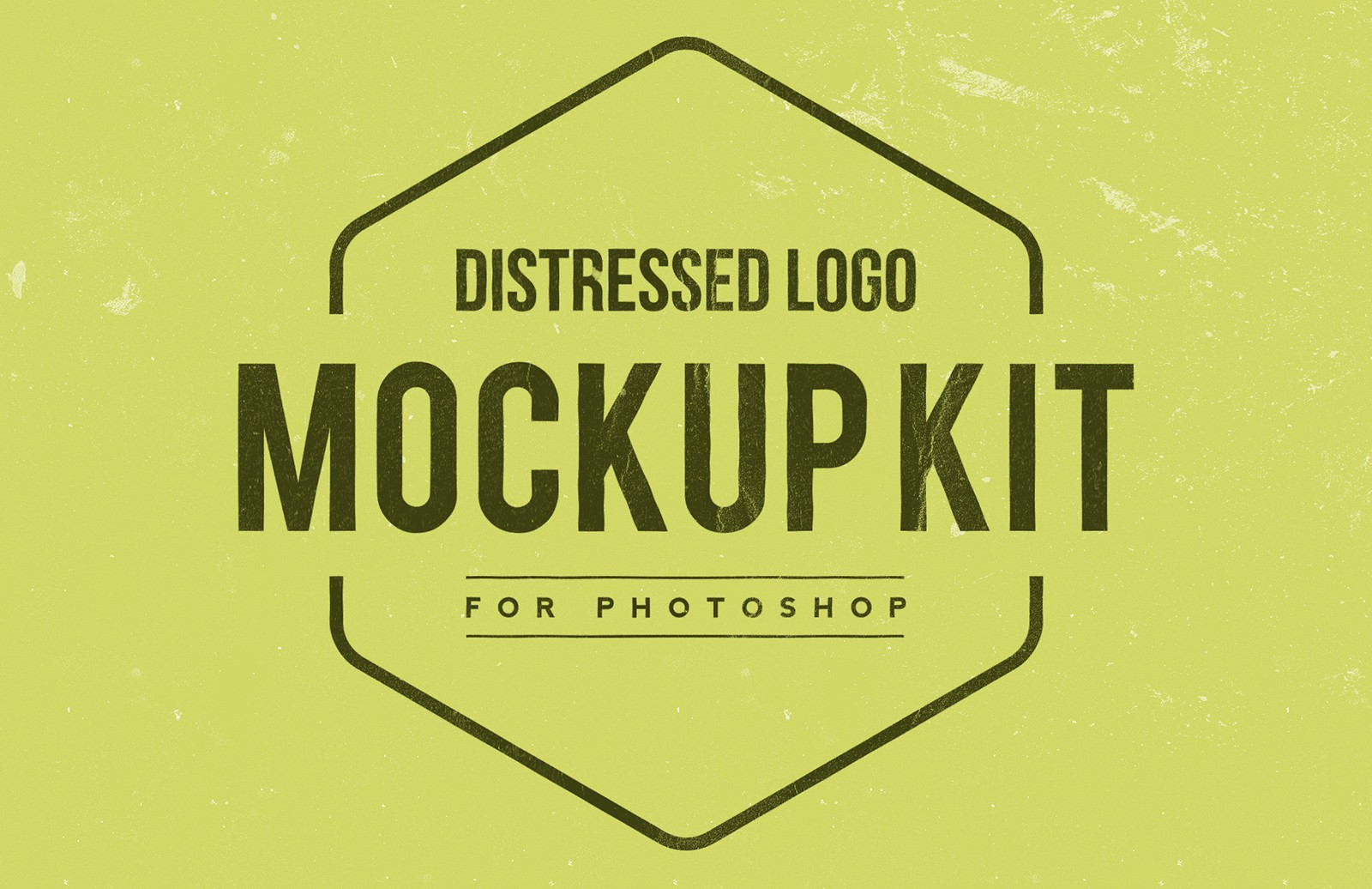 Distressed Logo Mockup Kit
