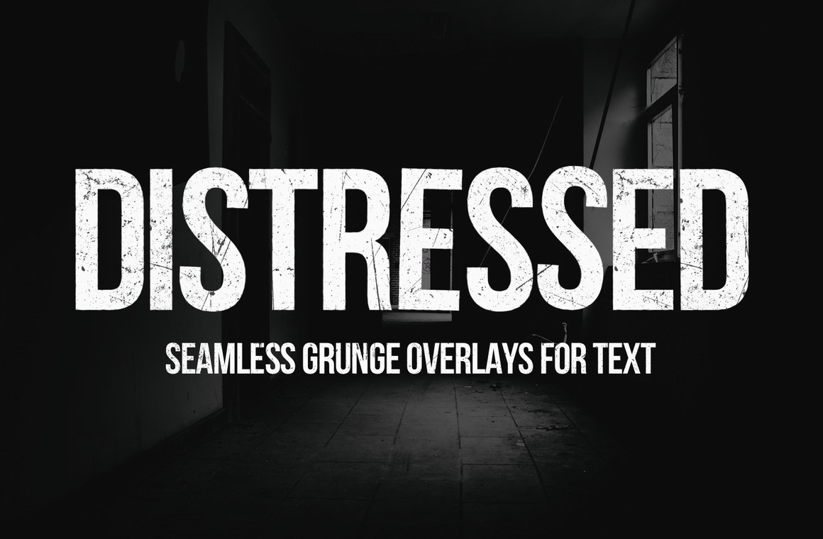 Distressed Seamless Grunge Text Overlays