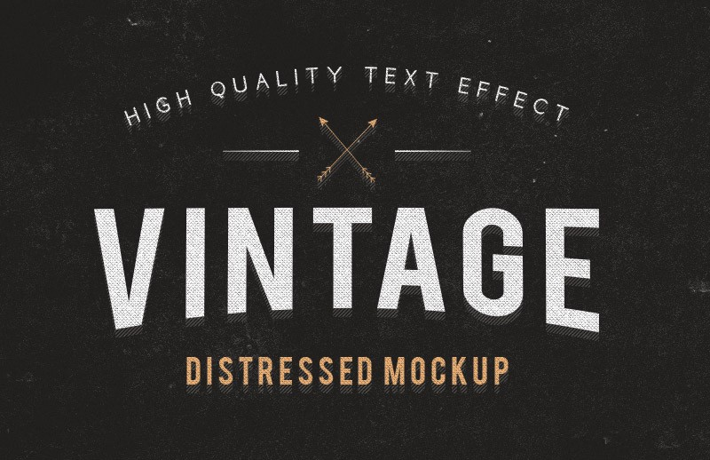 Distressed Text Effect Mockup