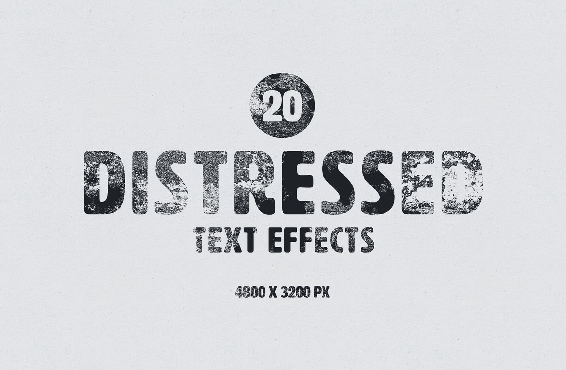 Distressed Text Effects