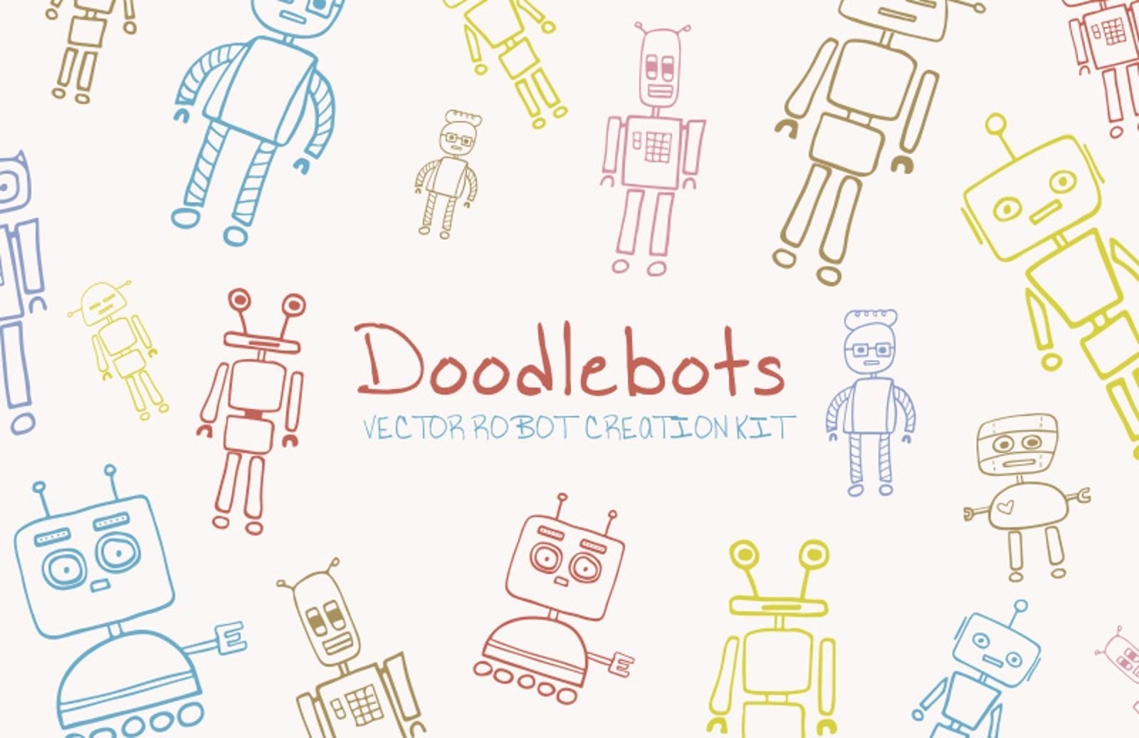Doodlebots    Vector  Robot  Creation  Kit  Preview 1
