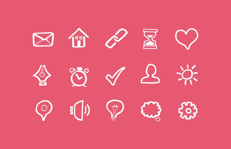 Doodled Basic Vector Icons