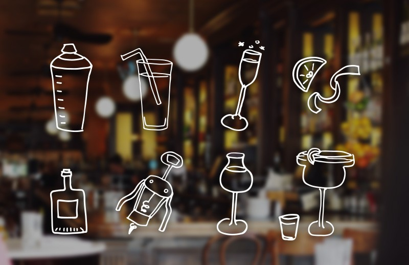 Doodled Cocktail & Drink Vectors