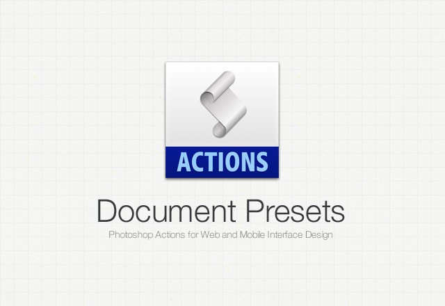 Document Presets - Ps Actions