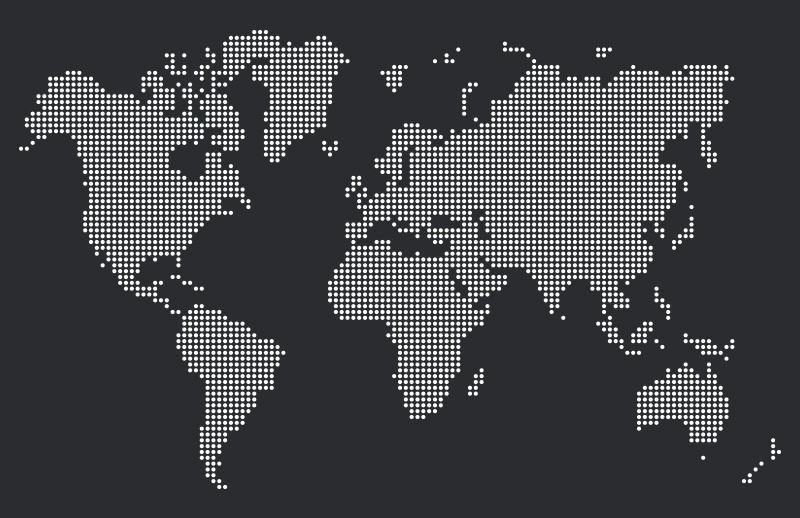 Dotted World Map Vectors