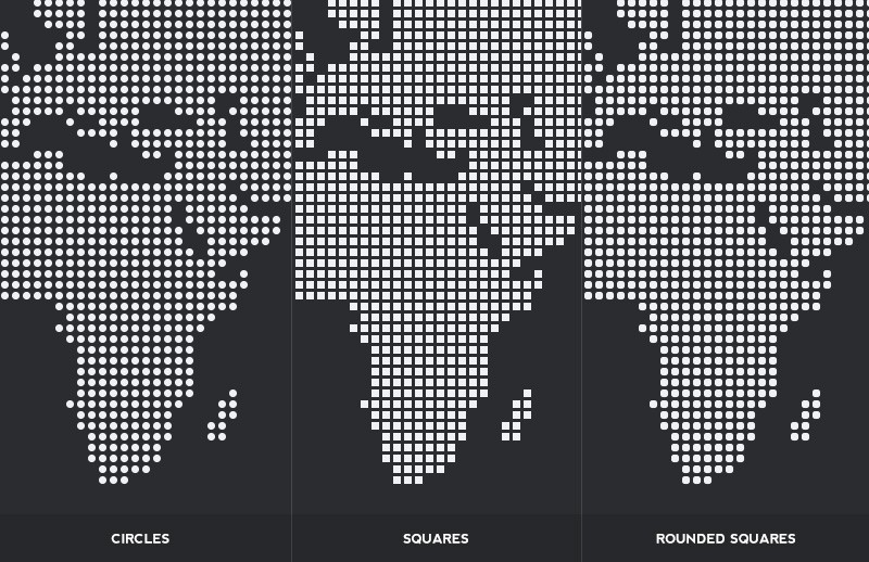 Large Dotted  World  Map  Vectors  Preview 2