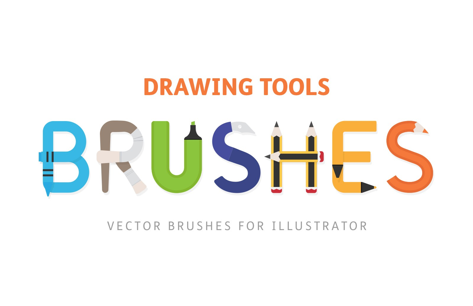 Drawing Tools Vector Art Brushes