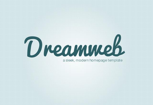 Dreamweb: Homepage Template