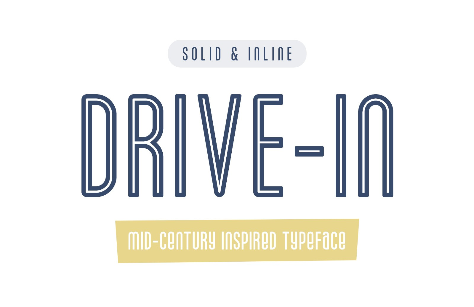 Drive In Mid Century Font Preview 1