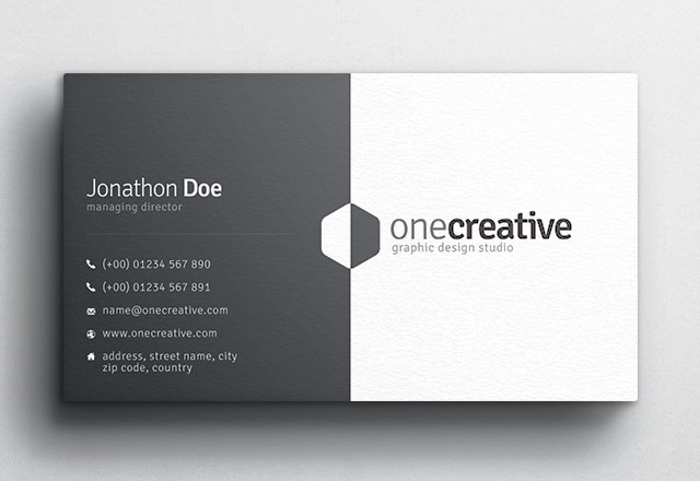 Duo Business Card Design — Medialoot