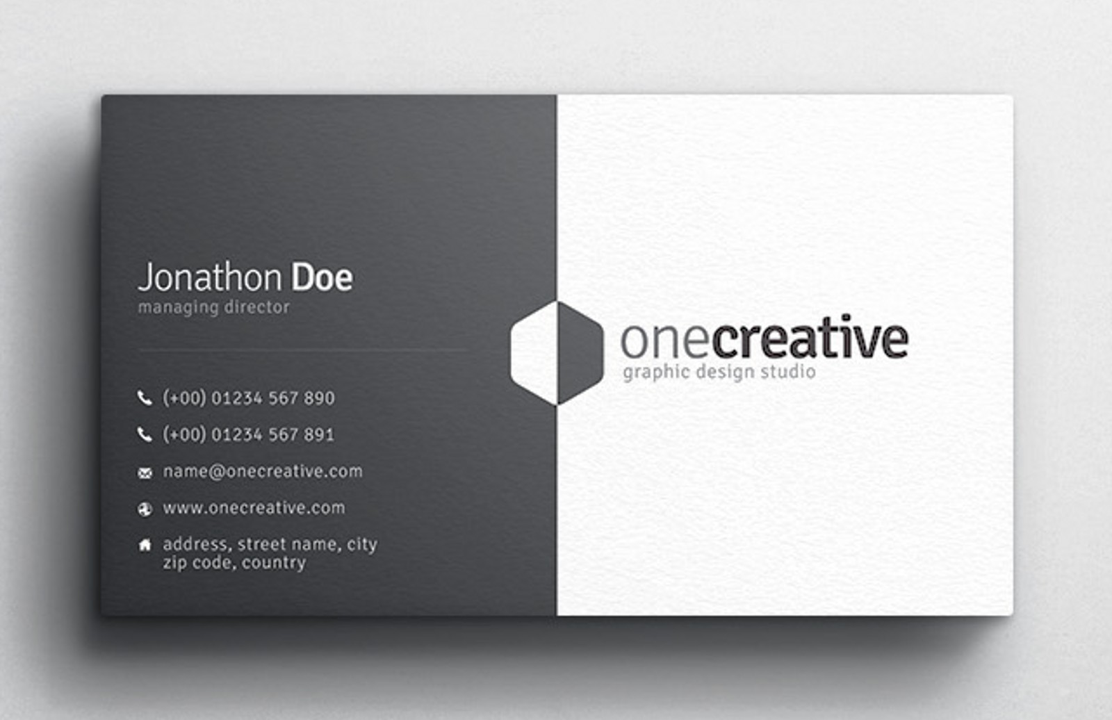 Duo Business Card Design Medialoot - Business card design template