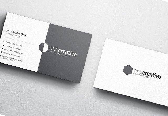 duo business card design — medialoot