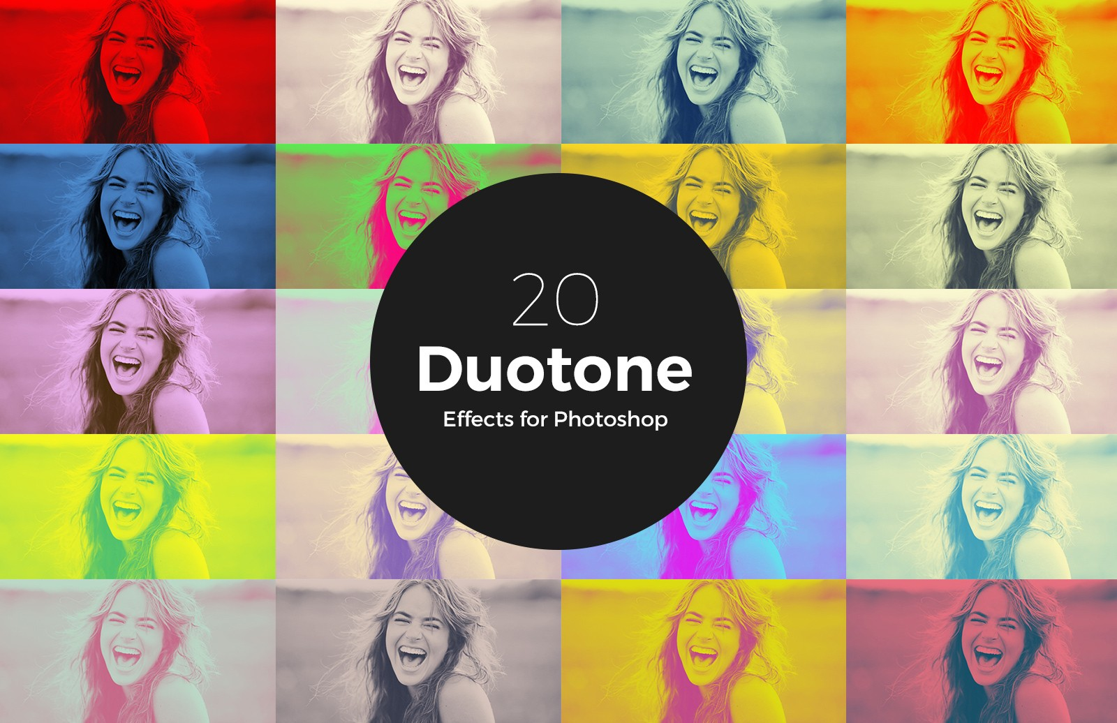 Large Duetone Photoshop Action Preview 1
