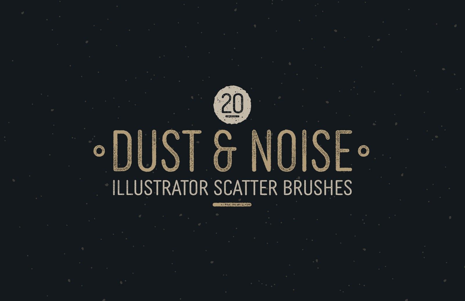 Dust And Noise Illustrator Scatter Brushes Preview 1