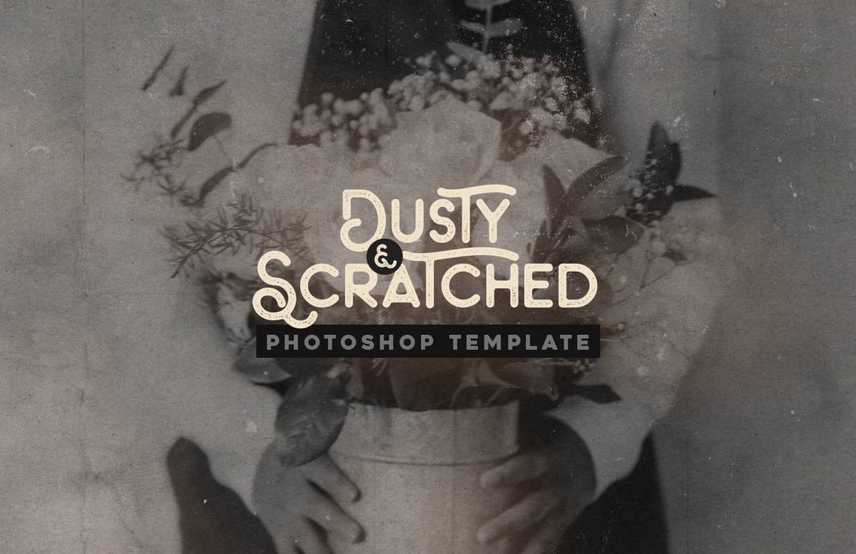 Dusty And Scratched Photoshop Template Preview 1
