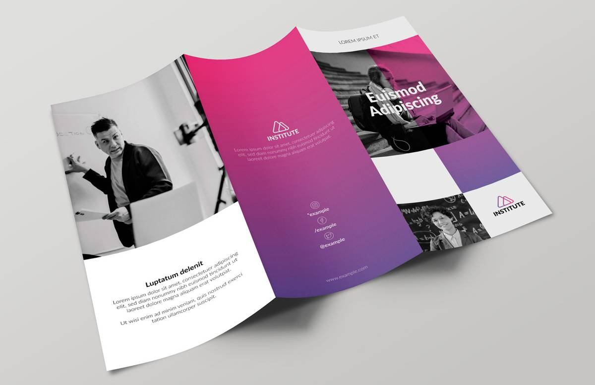 E Learning Trifold Brochure Template Preview 1