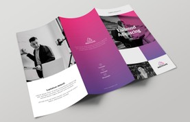 E-Learning Trifold Brochure Template