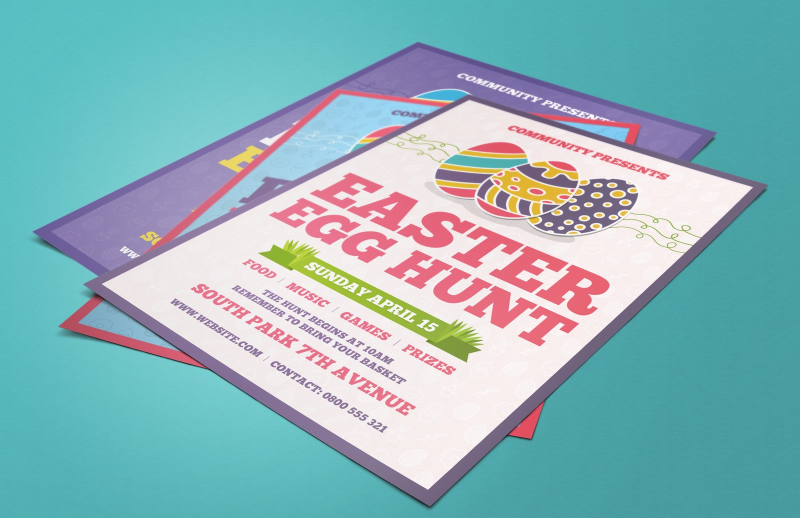 Free Easter Egg Hunt Flyer (AI, Word)