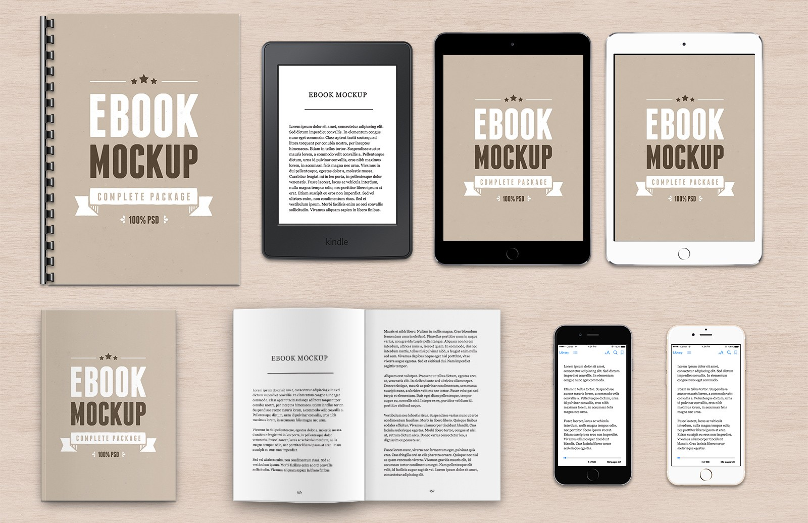 Ebook Mockup Package
