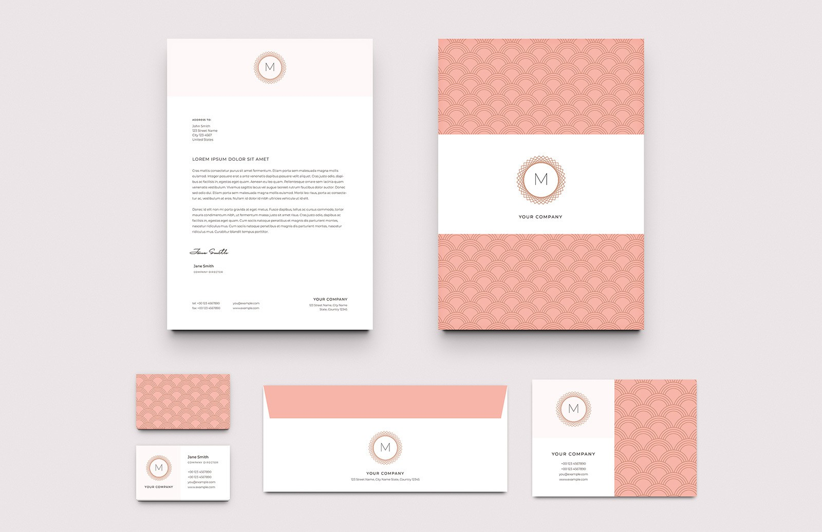 Elegant Business Stationery Layouts Preview 1