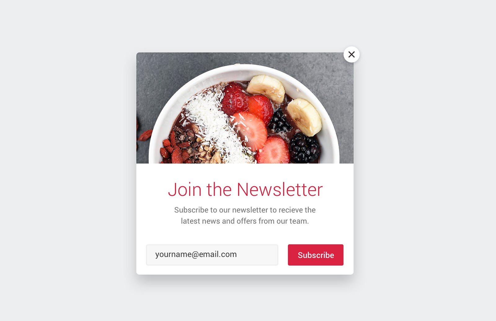 Email List Popup Templates (HTML)