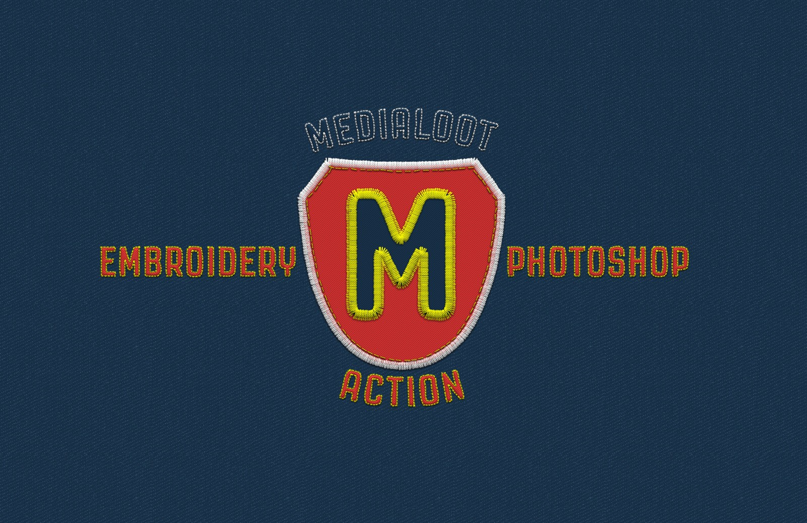Embroidery Photoshop Action Preview 1