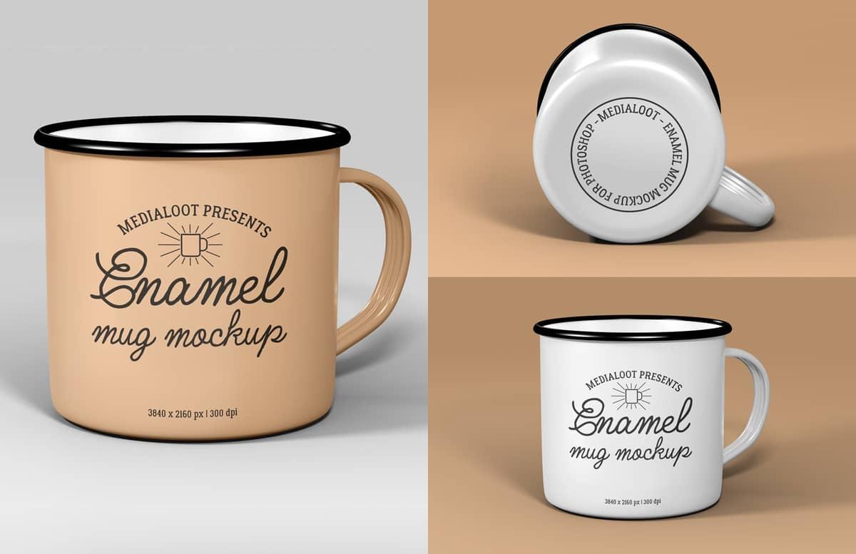 Enamel Mug Mockup Preview 1