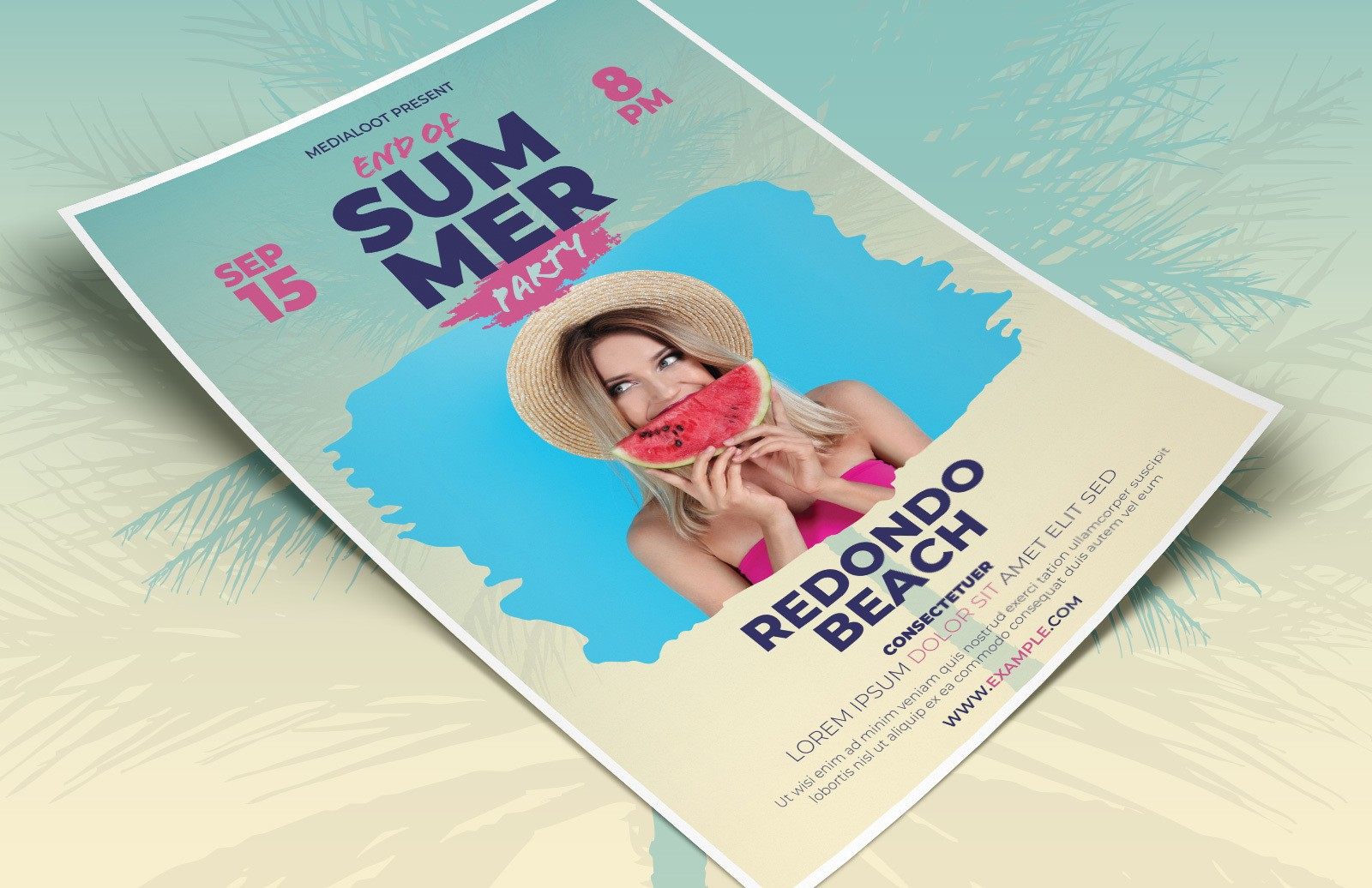 End Of Summer Flyer Template Preview 1