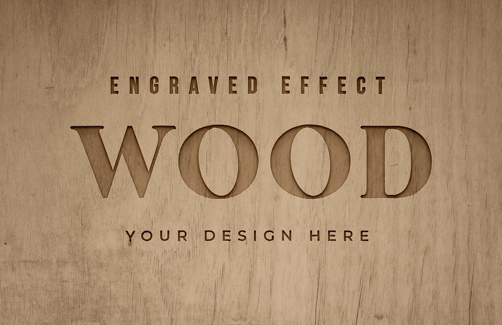 Engraved Wood Text Effect Preview 1