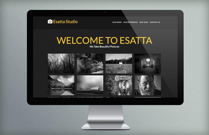 Esatta    One  Page  Parallax  Portfolio 800X518 1B
