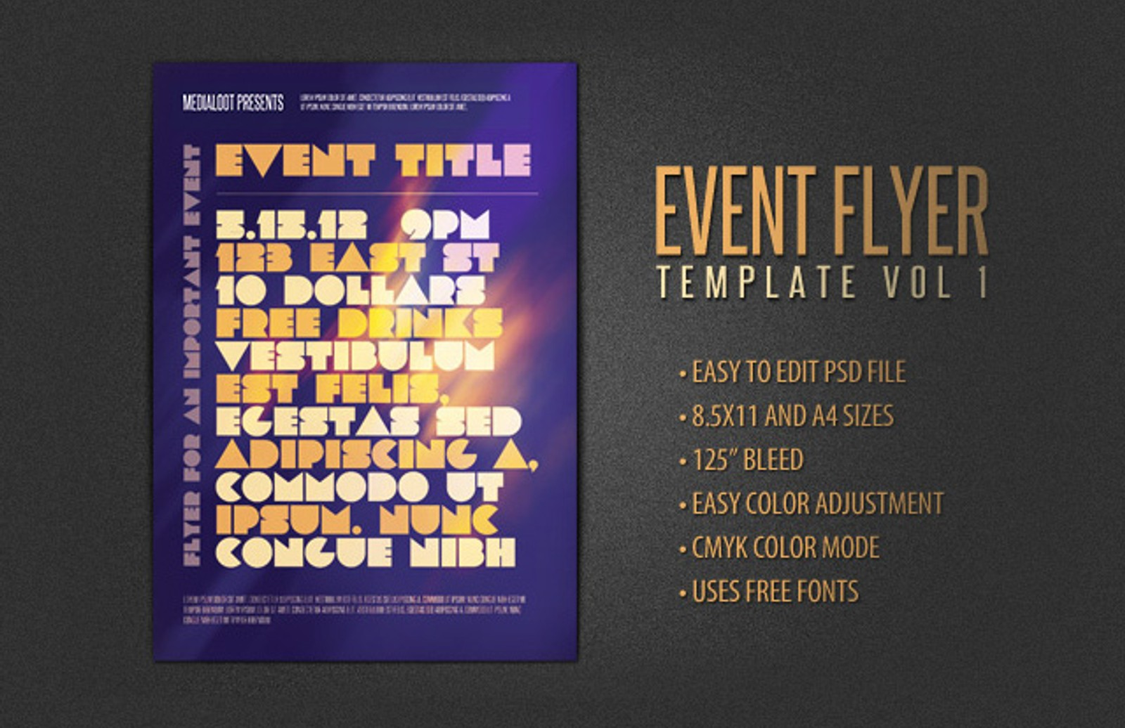Event  Flyer  Template  Vol 1  Preview1