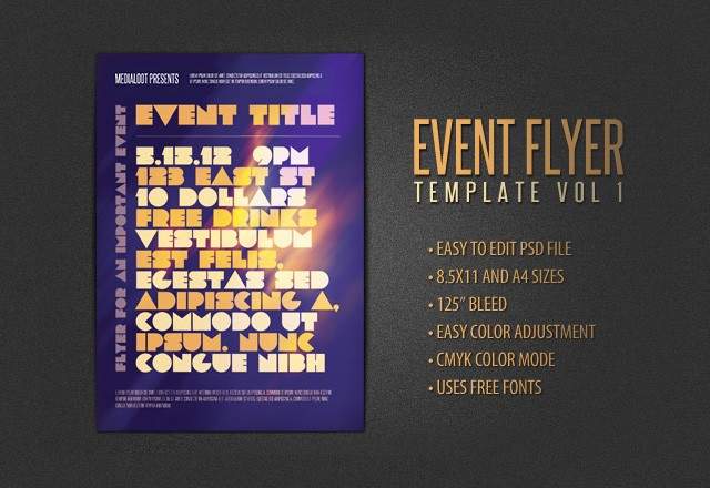 Print Ready Event Poster Vol 1