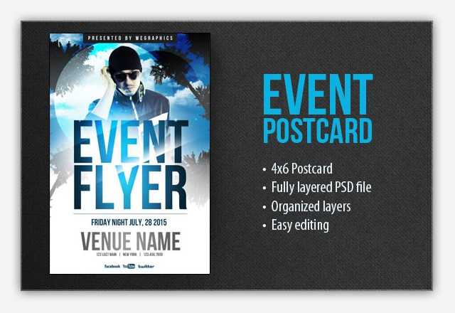 Event Flyer Postcard Template