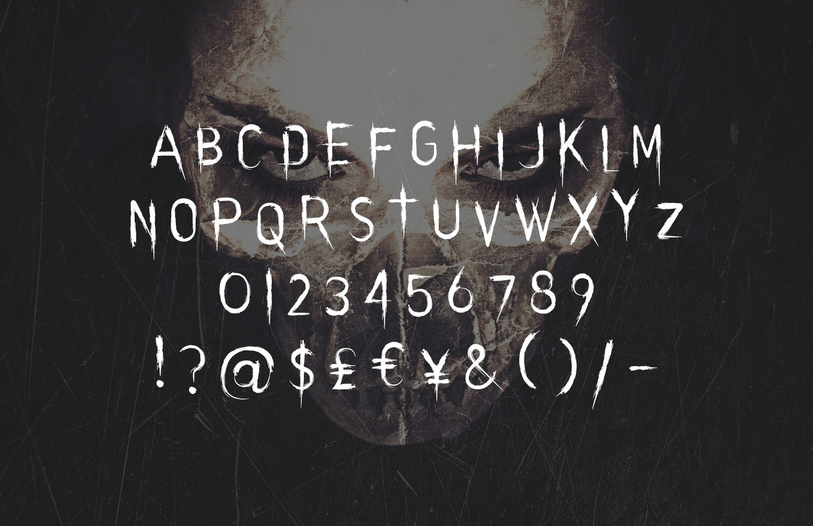Large Evilution  Distressed  Horror  Typeface  Preview 2