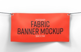 Fabric Banner Mockup