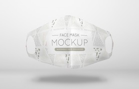 Floating Washable Face Mask Mockup